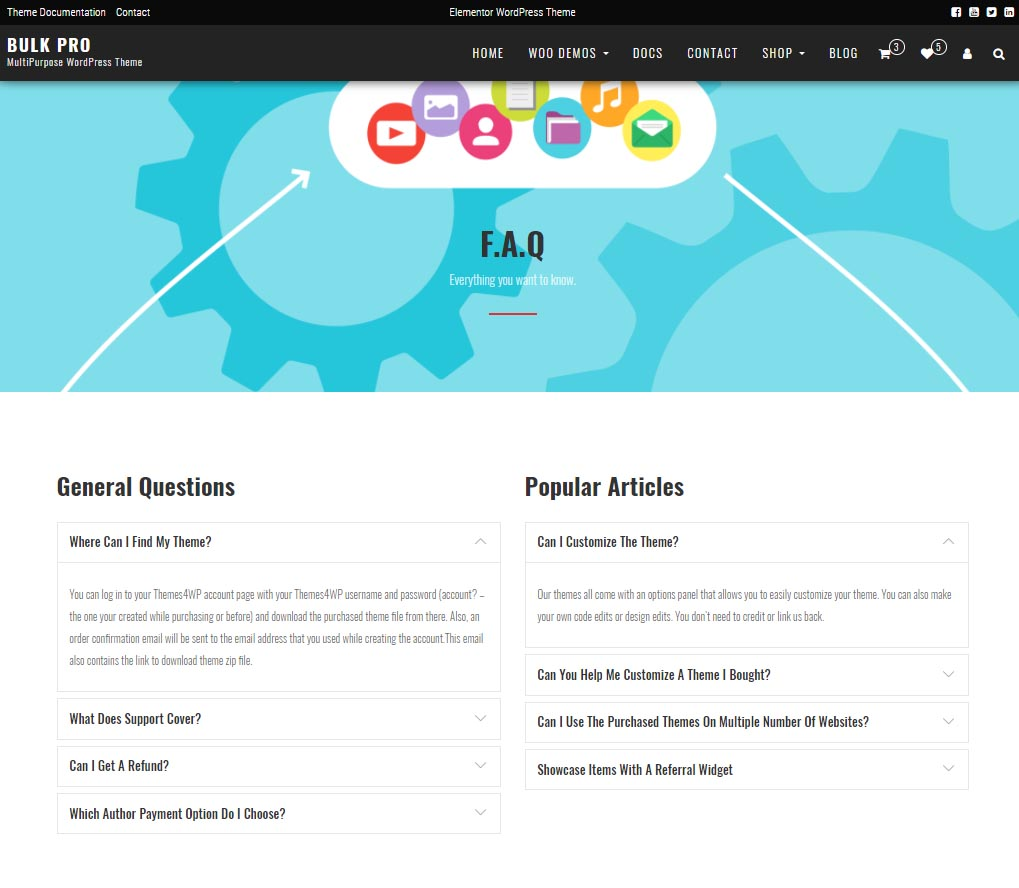 Bulk PRO – MultiPurpose WordPress Theme